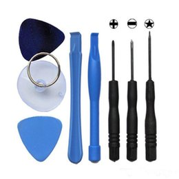 China 8 in1 Replacement LCD Front Screen Glass Lens mobile phone Opening Pry Repair Replace Tool Kit set for iphone 5 iphone 6 cheap kit front suppliers