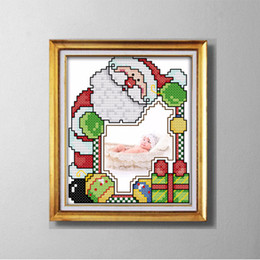 lovely paintings NZ - SANTA CLAUS photo frame lovely cartoon painting counted printed on canvas DMC 14CT 11CT Cross Stitch Needlework Set Embroidery kit