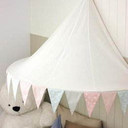 Cotton Kids Tent Canada - 165x100x60cm 100% Cotton Play Tent Children Canopy Mosquito Nets for Crib Girl Boy Kids Room Curtains Tent House Toy Children Birthday Gifts
