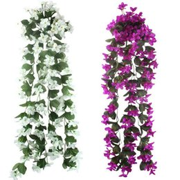 $enCountryForm.capitalKeyWord UK - 5pcs Lot Artificial Flowers For Wedding Decoration Cheap Silk Artificial Flowers Home Garland Fake Hanging Plants Party Supplies