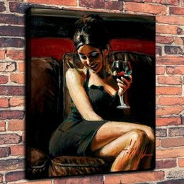 $enCountryForm.capitalKeyWord Australia - Framed Tess VII by Fabian Perez,Pure Hand Painted Famous Impressionism Portrait Art Oil Painting On Thick Canvas.Multi Sizes Available Fp003