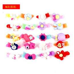 girls tiara combs UK - Lovely children fresh jelly fruit variety of small hairpin cartoon girl transparent sweet creative hair card