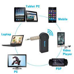 Vente en gros - Top vente 1pcs 3.5mm voiture Bluetooth Audio Music Receiver Adapter Auto AUX Streaming A2DP Kit pour casque haut-parleur