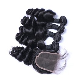 $enCountryForm.capitalKeyWord NZ - Wholesale Best Quality Brazilian Hair Cheap Virgin Peruvian Indian Malaysian Remy Hair Extension Hair Natural Color Loose Wave With Closure