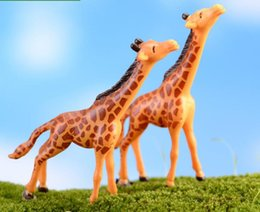 giraffe decorations NZ - 2Pcs Lot Giraffe for Landscape Decorations DIY Doll House Fairy Garden