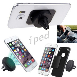 Discount best magnetic phone mount Car Mount Air Vent Magnetic Universal Cell Phone Holder for iPhone 6S 7 Plus One Step Mounting best seller Cheapest with
