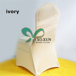 Nylon Chairs Wholesale Canada - Nice Looking Ivory Color Lycra Spandex Chair Cover \ Cheap Price For Wedding Decoration Chair Cover
