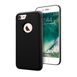 Wholesale Anti Gravity Case Shell Magic Nano Suction Magnetic Skin CaseFor Iphone Plus S Adsorbed Holes Design Back Cover