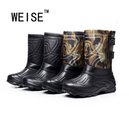 Chinese  Wholesale-Bottomed Non-Slip Waterproof Snow Boots Plus Velvet Light Fishing Boots Men Rain Boots High Quality Large Size 41-46 manufacturers