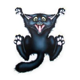 Discount black cat window stickers - OTOKIT Cute Car Styling Funny Car Sticker 3D Crazy Cat Car Window Head Tail Decal Cool Wrap Auto Decoration Automo