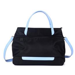 Cloth hobo bags online shopping - Nylon Oxford Cloth Color Cowhide Leather Handbag Portable Hobos Original Korean Version Of The New Commuter Bag YKK Zipper