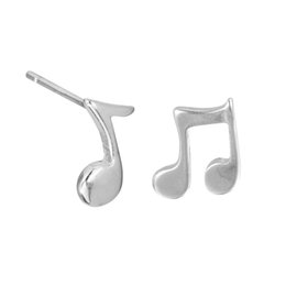 $enCountryForm.capitalKeyWord UK - 5 pairs lot Charm 925 Sterling Silver Small Music Note Sign Stud Earrings for Women Hot Sale Statement Jewelry Girls Gift