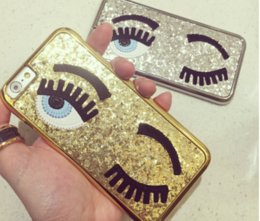 plastic eyelashes NZ - eyelashes bling electroplate glitter mirror chiara ferragni PC back cover cases for iPhone 5 5S 6 6S 6Plus 7 Plus