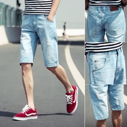 Discount Men Denim Short Capris | 2017 Men Denim Short Capris on ...