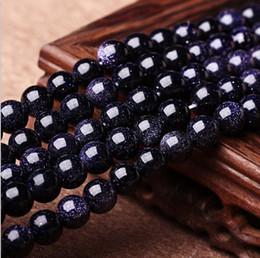 Großhandel Freies verschiffen 8mm Runde Natrual Blue sand stein Perlen edelstein Lose Perlen Für Armband Schmuck Machen mehr farben für wahl