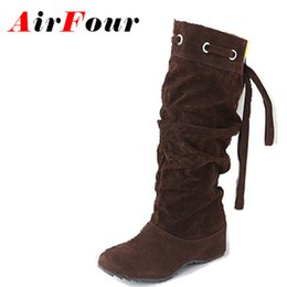 $enCountryForm.capitalKeyWord Canada - Wholesale- Airfour 4 Color Half Boots Women Lady Winter Boots Footwear Wedge Shoes Fashion Sexy Snow Boots Warm EUR Size 34-43