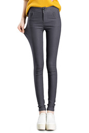 Barato Mulheres S Xl Jeans Colors-2017 New Fashion Women's Skinny Leggings jeans Slender Sexy Slim Tight Stretchy Long Denim calças 5 cores sólidas