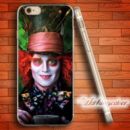$enCountryForm.capitalKeyWord Canada - Alice in Wonderland The Hatter Soft Clear TPU Case for iPhone 7 6 6S Plus 5S SE 5 5C 4S 4 Case Silicone Cover.