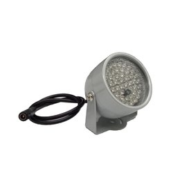 China 850nm 48 IR LED Infrared Illuminator Light IR Night Vision for CCTV Security Cameras Fill Lighting metal gray Dome Free shipping suppliers