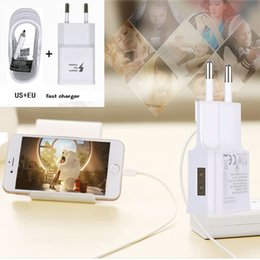 wholesale micro wall charger 2019 - For Samsung S7 Fast Wall Charger Car Charger For S6 Travel Adapter 1.5M Micro USB Cable Kits 5V 2A US EU Version Plug No