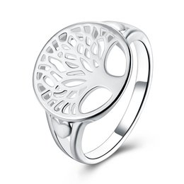 $enCountryForm.capitalKeyWord Canada - Fashion 925 silver Tree of life Ring Classic Hollow out Family Tree Art Finger Ring for Women Big Size 6 7 8 9
