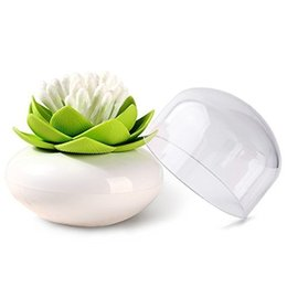 $enCountryForm.capitalKeyWord NZ - Q-tips Holder Lotus Cotton Swab Box Lotus Cotton Bud Holder Base Room Decorate   Lotus Toothpicks Holder Toothpick Case