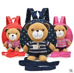 Chinese  Plush animal backpacks for kids safety harnesses for 1~3 years old baby toddler walking keeper bear cute backpack storage bag manufacturers