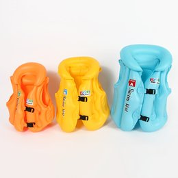 Jouets De Natation En Gros Pas Cher-Vente en gros - 3 dimensions réglables Enfants Enfants Babys Gonflable Pool Toys Float Life Vest Swiwmsuit Child Swimming Safety Vest Boys and Girls