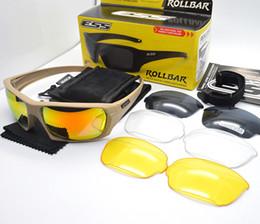 ESS ROLLBAR Polarisierte Tactical Sunglasses 4 Objektiv Outdoor Sports Anti UV Gläser TR90 Rahmen Armee Schutzbrillen Ballistischen Test Tactical Sunglasses
