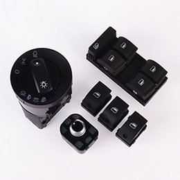 Chinese  6pcs New Window Panel Headlight Mirror Switch Control Set For Audi A4Set For Audi A4 B6 B7 8E0941531A 8E0959855 4FD959565 8ED959851 manufacturers