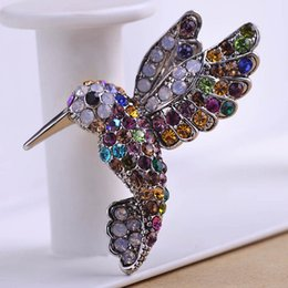 wholesale brooches bulk UK - Vintage Jewelry Bird Antisilver Crystal Brooches Bouquet Antique Hajab Pin Up Wedding Jewelry Broches Broach Mix Lot Bulk