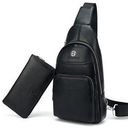 Chinese  Men Bag Summer High Capacity Chest Bag Man Travel Chest Pack Leather Men Crossbody Bag Designer Male Shoulder Bags manufacturers