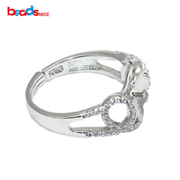 $enCountryForm.capitalKeyWord NZ - Beadsnice 925 Sterling Silver Ring Blank Cabochon Setting fit 8mm Round Adjustable Ring size 7 to 9 Handmade Findings ID30666