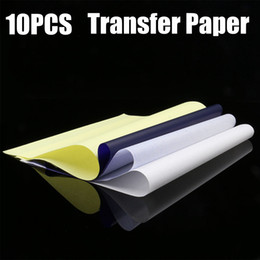 Wholesale 10PCS Spirit Tattoo Transfer Paper A4 Size Tatoo Paper Thermal Stencil Carbon Copier Paper Tattoo Supply