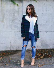 $enCountryForm.capitalKeyWord Australia - Jacket women 2018 winter women clothing thick warm classic plaid velvet outwear womens jackets and coats