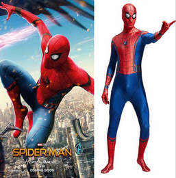spider man cosplay suit NZ - 2017 hero returns the Spider-Man's tights War clothing 3D digital printing extraordinary Spider-Man tights cosplay play suits zentai