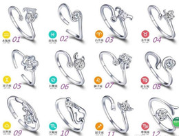 beautiful rings new style 2019 - New High Qulity 12 Styles Mixed STYLES MIX SIZES 925 sterling Silver fashion charm Beautiful cute Crystal Stone Wedding