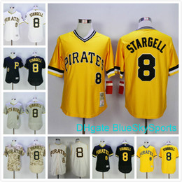 100% authentic 83a75 089c7 pittsburgh pirates 8 willie stargell black throwback jersey