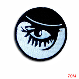 Wholesale embroidered children patches resale online - new arrival Clockwork Orange Alex Eye Eyeball Patch applique Embroidered Iron on Rockabilly Children Cartoon Patch