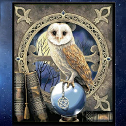 Cute Owl Paintings Canada - YGS-528 DIY Partial 5D Diamond Embroider The Cute Owl Round Diamond Painting Cross Stitch Kits Diamond Mosaic home Decoration