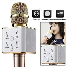 Bluetooth microfono online shopping - Q7 Handheld Microphone Bluetooth Wireless KTV With Speaker Mic Microfono Handheld Loudspeaker Portable Karaoke Player For iphone Smartphone