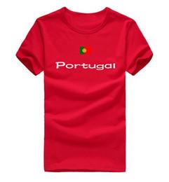 Athletics Shirt NZ - Portugal T shirt International game sport short sleeve Athletic meet tees Nation flag clothing Unisex cotton Tshirt