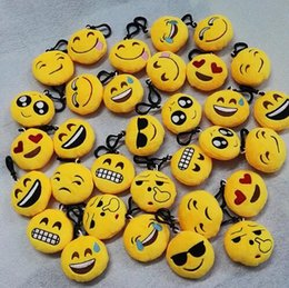 Discount video ring - Emoji Plush Keychain Plush Keyring Emoticon Key Ring Plush Face Poop Emoji Key Chain Bag hanger Fur Keychain