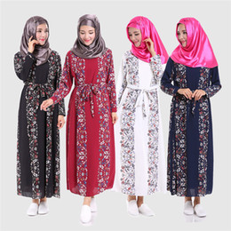 S'habille Malaisie Pas Cher-Nouvelle arrivée islamique musulman long robe pour les femmes Malaisie abayas à Dubaï turque ladies clothing print dress haute qualité longue robe