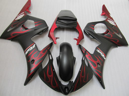 $enCountryForm.capitalKeyWord Canada - Hot sale fairing kit for Yamaha YZF R6 03 04 05 red flames black fairings set YZF R6 2003 2004 2005 OT17
