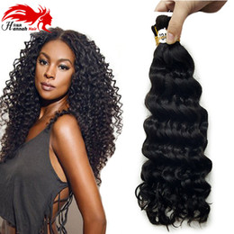 brazilian virgin bulk braiding hair NZ - Afro Deep Curly Bulk Hair For Braiding 3Pcs Lot 150g Virgin Human Hair Afro Deep Curly Hair Bulk Extensions Without Weft