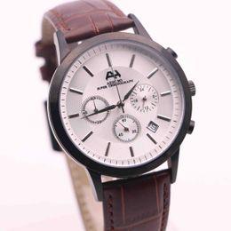 Strap vk online shopping - 7type TOP seller brand AEHIBO new watches men white dial brown leather straps watch quartz VK super chronograph watch men watches