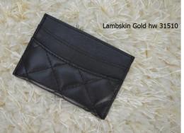 $enCountryForm.capitalKeyWord Australia - 31510 Black Lambskin Caviar Leather wallets Women classic Luxury diamond lattice 11.5*8CM