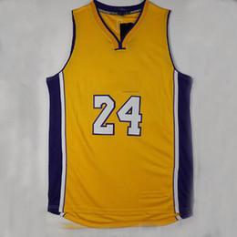 658c72173cf9 ... Top Quality 24 Kobe Bryant jersey Cheap Mens 100% Stitched Yellow  Throwback Kobe basketball jersey ...