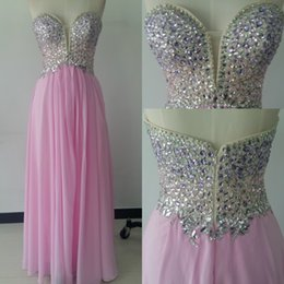 $enCountryForm.capitalKeyWord Canada - 2017 Sexy Luxury Chiffon Prom Dresses Sweetheart Sheath Beads Crystals Evening Dresses Backless Zipper Party Dresses With Free Necklace